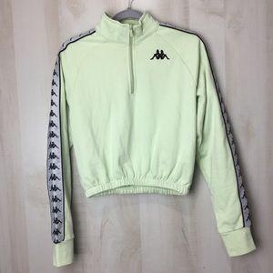 Kappa Half Zip Up Cropped Sweater